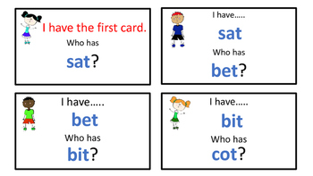 I Have, Who Has?  ALL Short Vowels  Putting It All Together