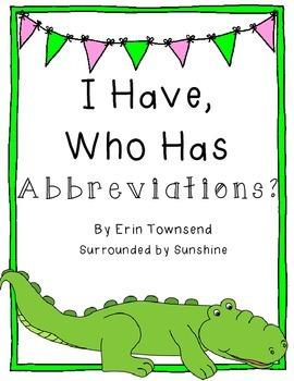 I Have, Who Has Abbreviations?