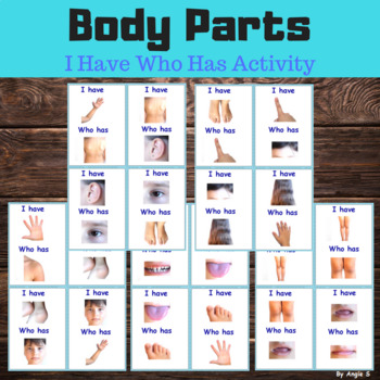 I Have Who Has Activity-Body Parts