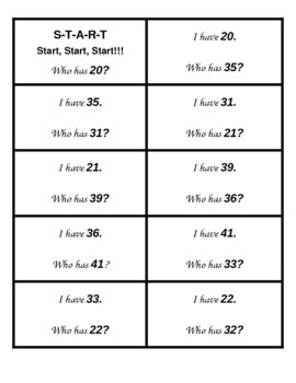 I Have, Who Has? Activity--Numbers, Ten/Ones, More/Less (18 Games)