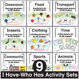 I Have - Who Has Activity Set Bundle