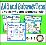 I Have Who Has Add and Subtract Tens Bundle