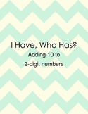 I Have Who Has Adding 10