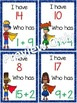 I Have, Who Has? ~ Addition 0-20 ~ Superheroes