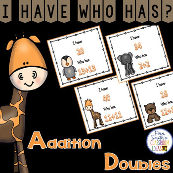 I Have, Who Has? Addition Facts - Doubles