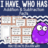I Have, Who Has - Addition & Subtraction Facts