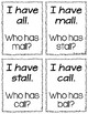 I Have, Who Has - al/all Spelling Pattern {FREEBIE!}