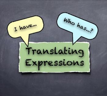 """I Have... Who Has...?"" Algebraic Variable Expressions Activity"