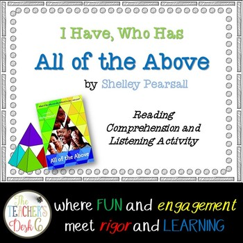 """I Have, Who Has """"All of the Above"""" by Shelley Pearsall"""