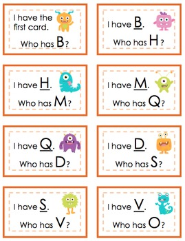 """I Have, Who Has?"" Alphabet"