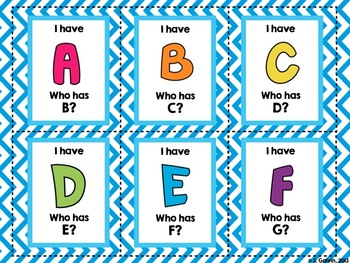 I Have, Who Has... (Alphabet Edition)