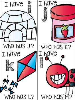 I Have Who Has Alphabet Edition