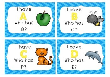 I Have, Who Has? Alphabet Edition