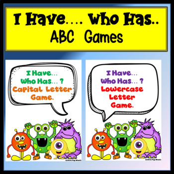 I Have Who Has... 2 Alphabet Games