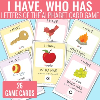 I Have, Who Has Alphabet Game Alphabet Cards