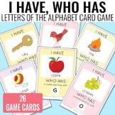 I Have, Who Has Alphabet Game Alphabet Cards