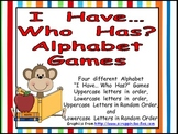 I Have ... Who Has Alphabet Games for Kindergarten or Preschool