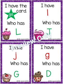 I Have, Who Has? ~Alphabet Letters ~ Valentines Game