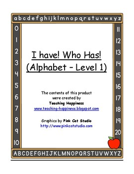 I Have, Who Has - Alphabet (Level 1)