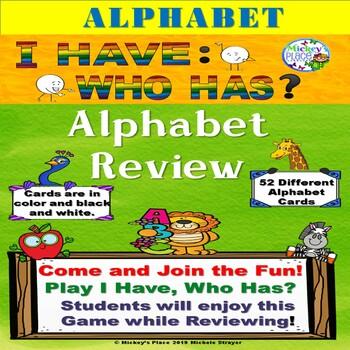 I Have Who Has? Alphabet Review