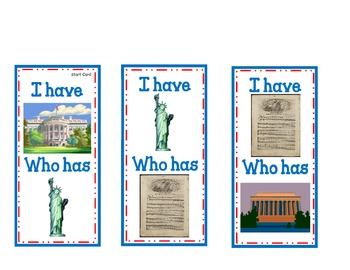 I Have ... Who Has ... An American Symbol Activity for Georgia Teachers