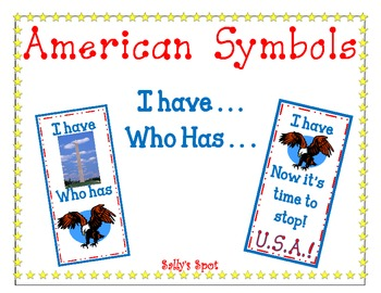 I Have ... Who Has ... An American Symbol Activity for Geo