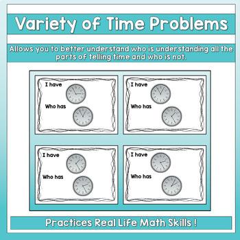 I Have, Who Has - Analog Clocks