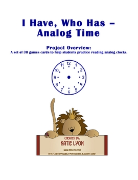 I Have, Who Has: Analog Time