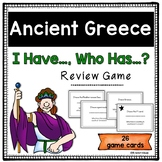 """Ancient Greece Review Game """"I Have, Who Has"""""""