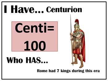 I Have..Who Has.. Ancient Rome