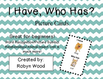 I Have, Who Has? -Animal Picture Cards (Set of 23)