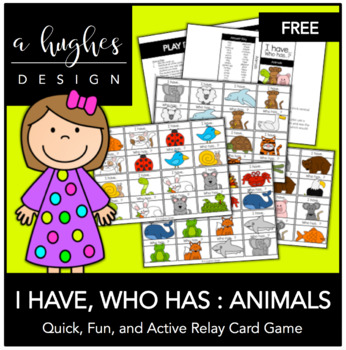 FREE I Have, Who Has: Animals {A Hughes Design}