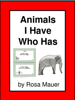 I Have Who Has Animals Theme