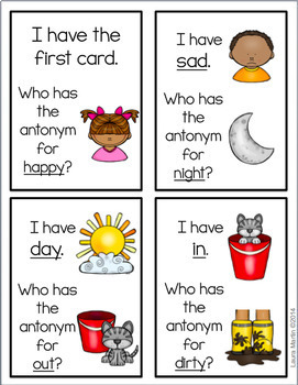 I Have, Who Has-Antonyms