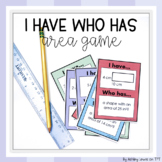I Have-Who Has Area Game (with no prep differentiation!)