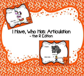 I Have, Who Has: Articulation - the R Edition