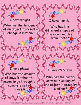 I Have, Who Has - Astronomy Cards