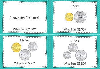 I Have Who Has Australian Coins