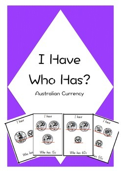 I Have Who Has Australian Currency