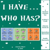 AUTHOR'S CRAFT: I Have, Who Has? Literary Devices & Poetry Elements Review Game