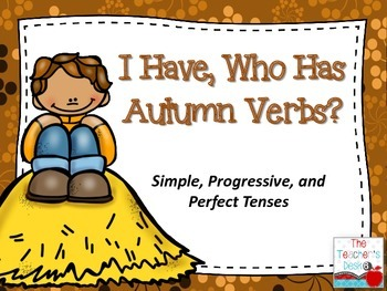 I Have Who Has Autumn Verbs