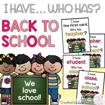 I Have Who Has: BACK TO SCHOOL Edition!