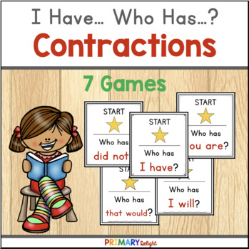 Contractions: I Have... Who Has...? BUNDLE