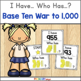 Base Ten to 1000 Place Value Game with I Have Who Has