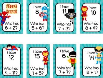 I Have... Who Has - Basic Addition Facts Through 20 - CCSS Aligned