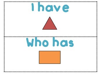 I Have, Who Has Shapes