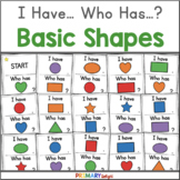 2D Shapes Game with I Have Who Has Game