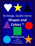 I Have, Who Has Basic Shapes and Colors - Spanish - 28 Cards
