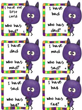I Have...Who Has...? Bats short /a/