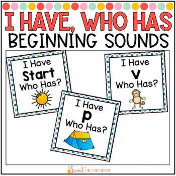 I Have, Who Has {Beginning Sounds}